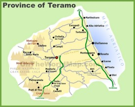 Province of Teramo map