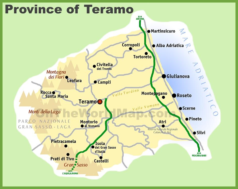 Province of Teramo map