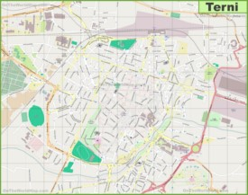 Large detailed map of Terni