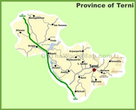 Province of Terni map