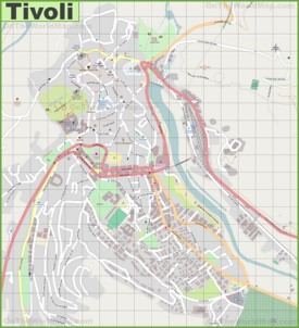 Large detailed map of Tivoli