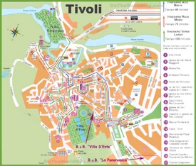 Tivoli tourist map