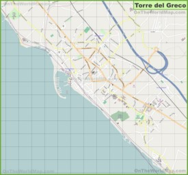 Large detailed map of Torre del Greco