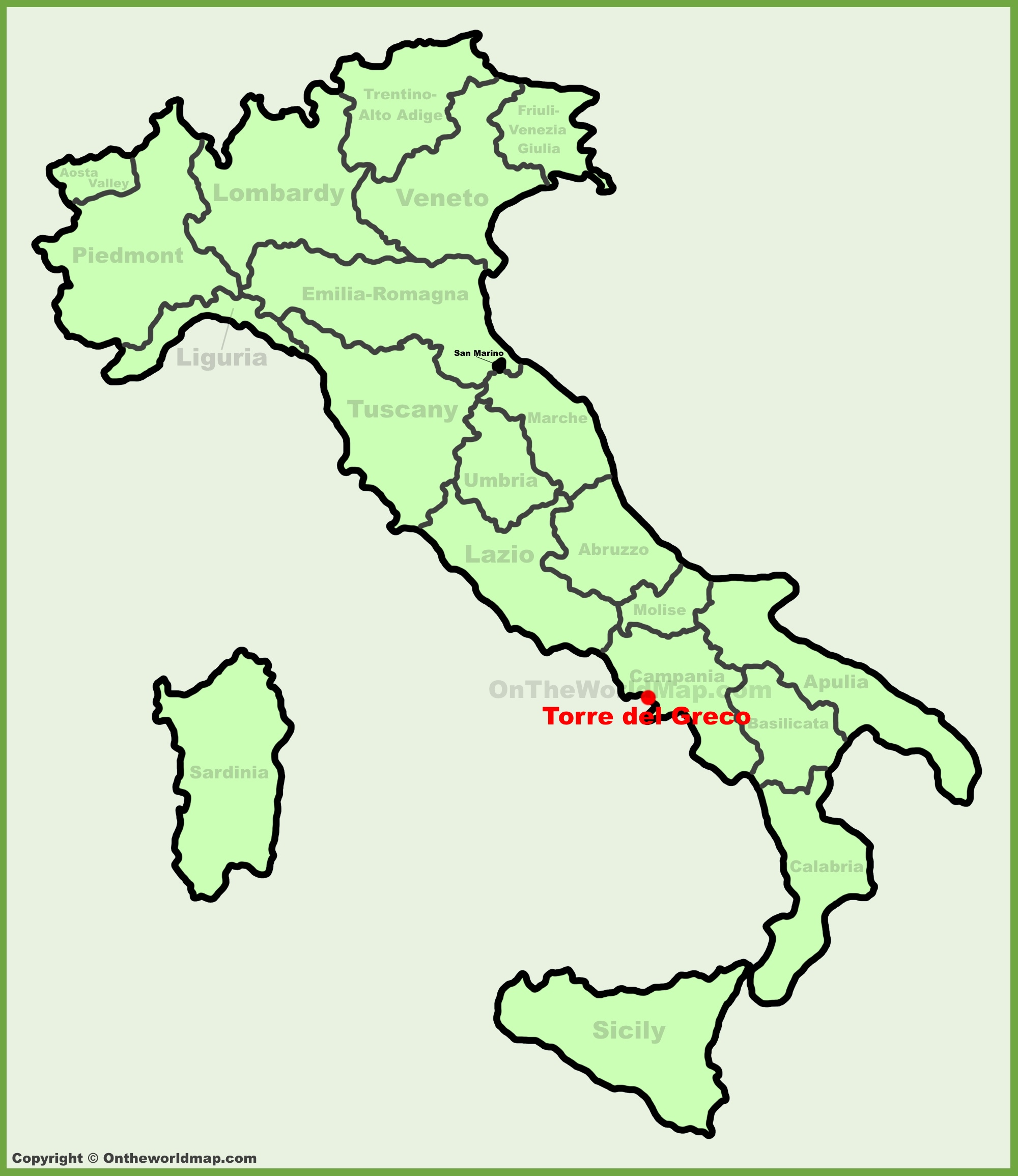 Torre del Greco location on the Italy map