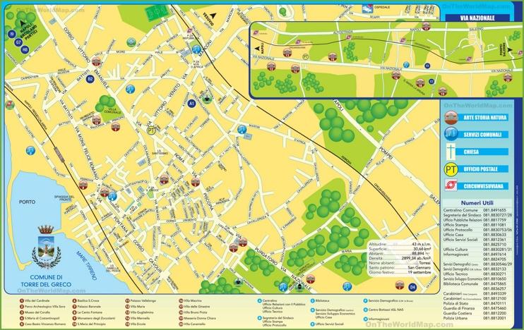 Torre del Greco tourist map