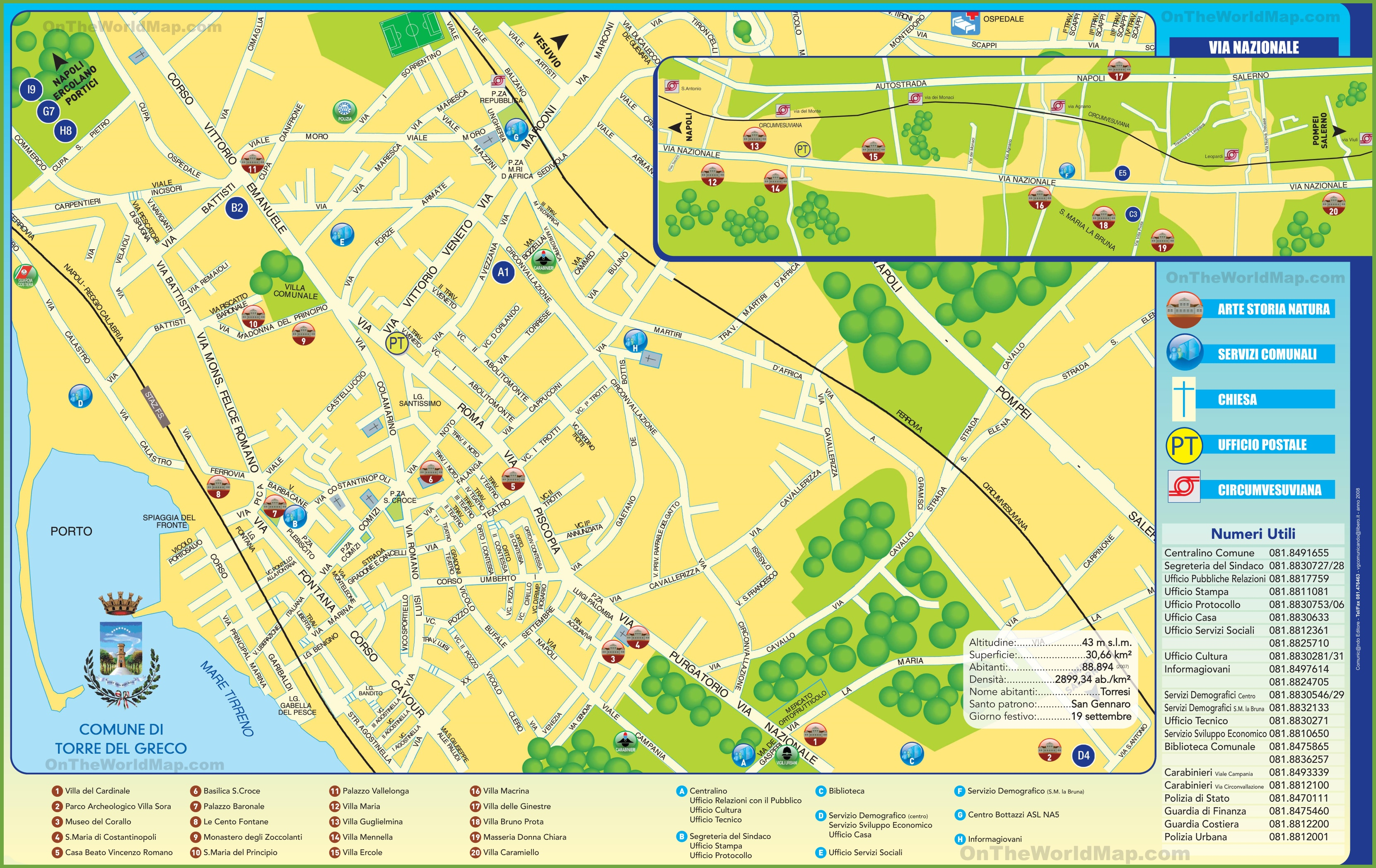 Torre del Greco tourist map