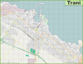 Large detailed map of Trani