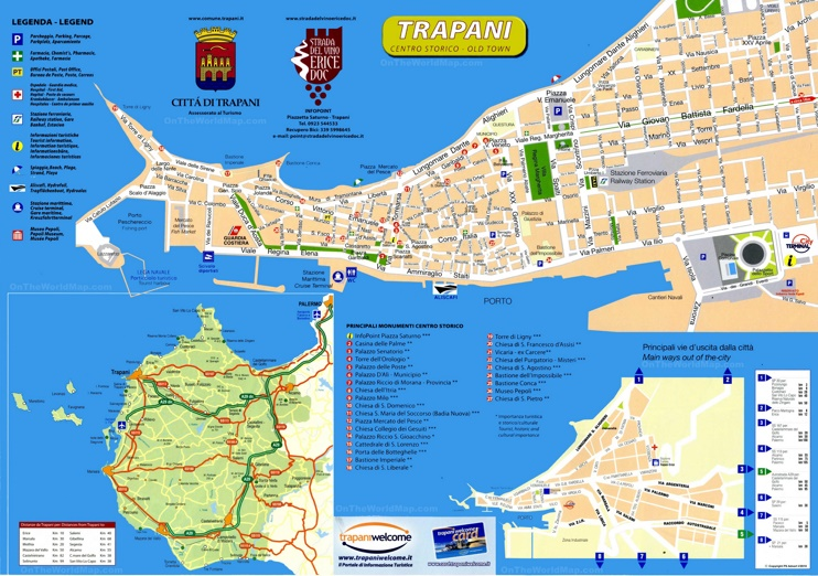Trapani Sightseeing Map