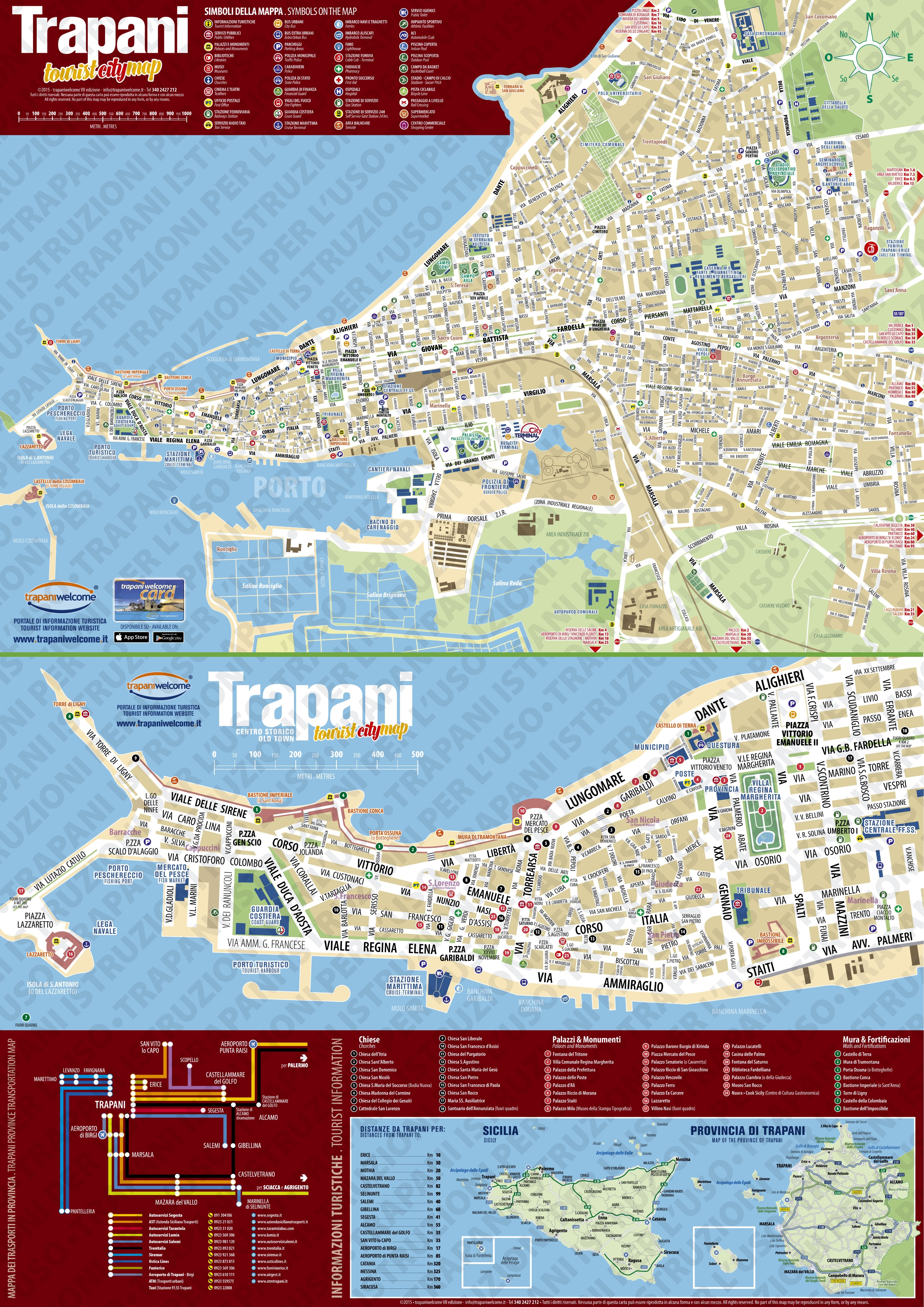 Trapani tourist attractions map