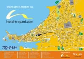 Trapani tourist map