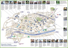 Trento sightseeing map