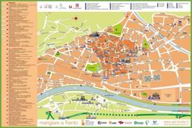 Trento tourist map