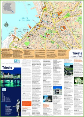 Trieste sightseeing map