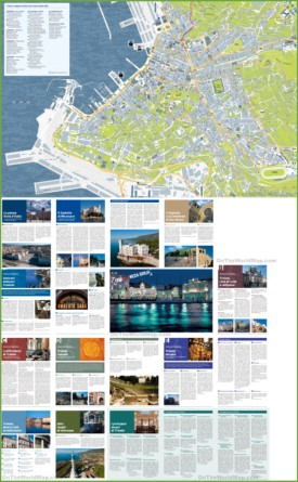 Trieste tourist attractions map