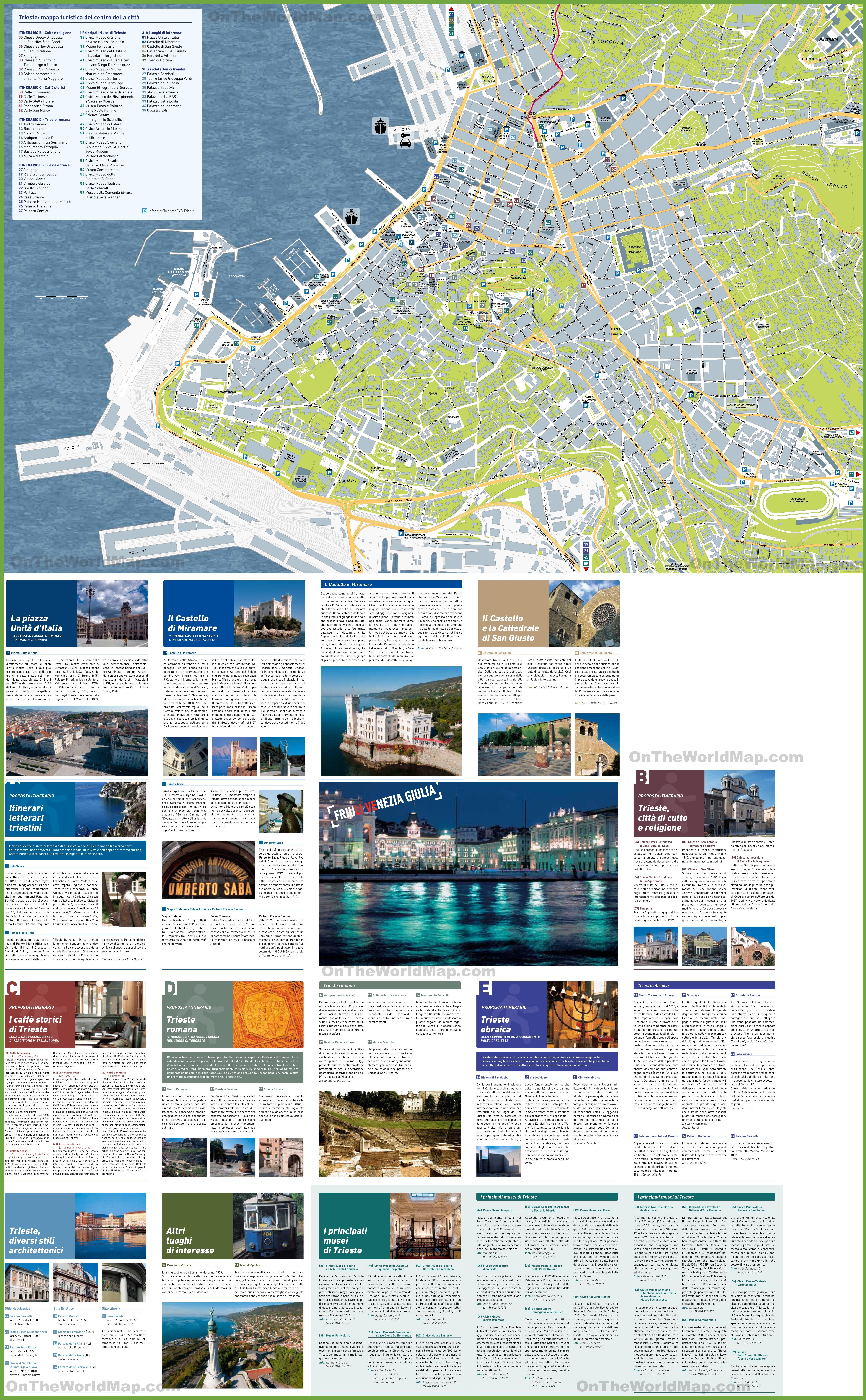 Trieste Maps Italy Maps of Trieste