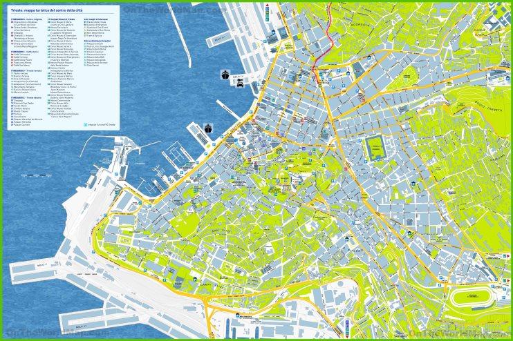 Trieste tourist map