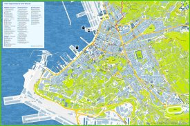 Trieste tourist map