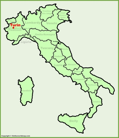 Turin Location Map