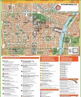 Turin sightseeing map