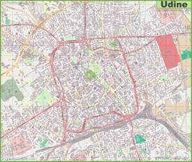 Large detailed map of Udine