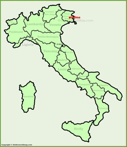Udine Location Map