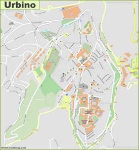 Detailed Map of Urbino