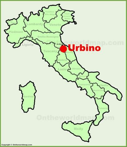 Urbino Location Map
