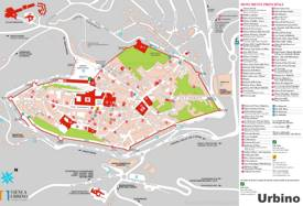 Urbino Sightseeing Map