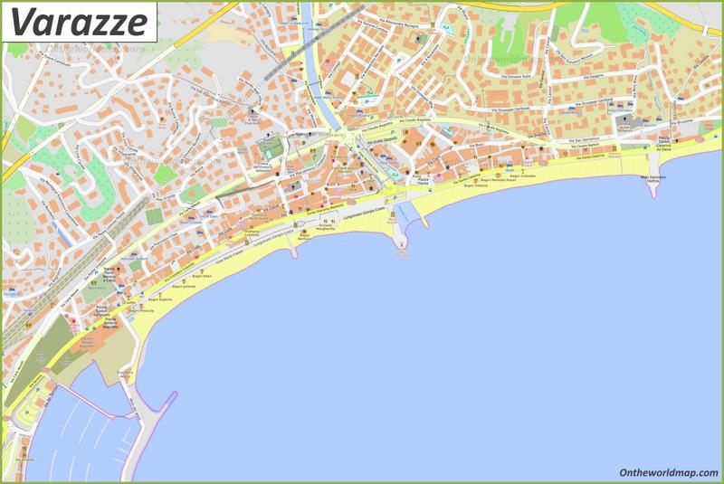 Map of Varazze