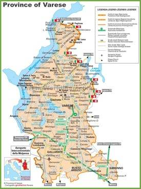 Province of Varese tourist map