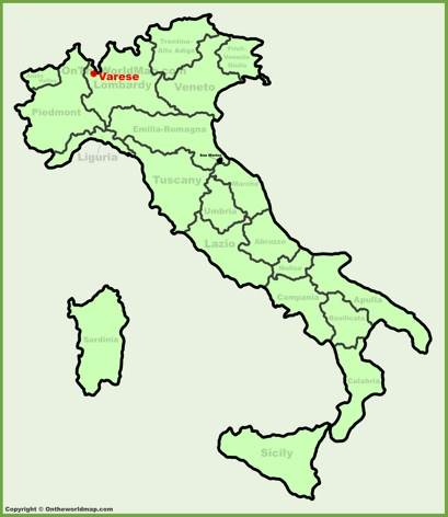 Varese Location Map