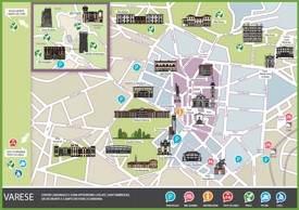 Varese tourist map