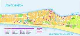 Lido di Venezia hotel map