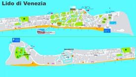 Lido di Venezia tourist map