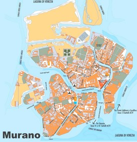 Murano sightseeing map