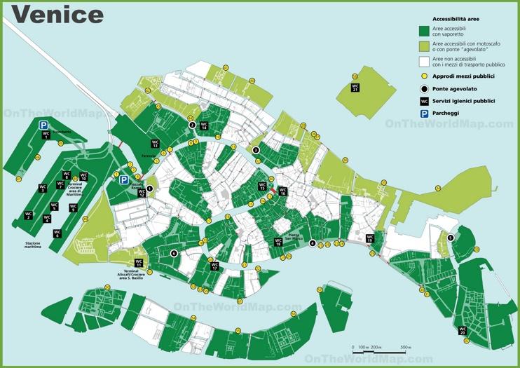 Venice public toilet map