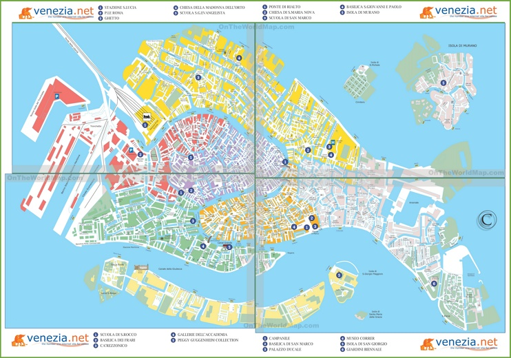 Venice sightseeing map