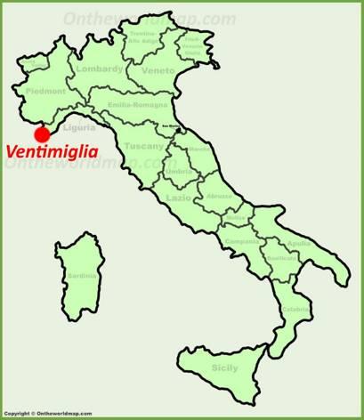 Ventimiglia Location Map