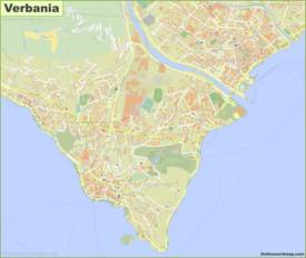Detailed Map of Verbania