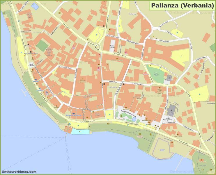 Verbania City Center Map (Pallanza)