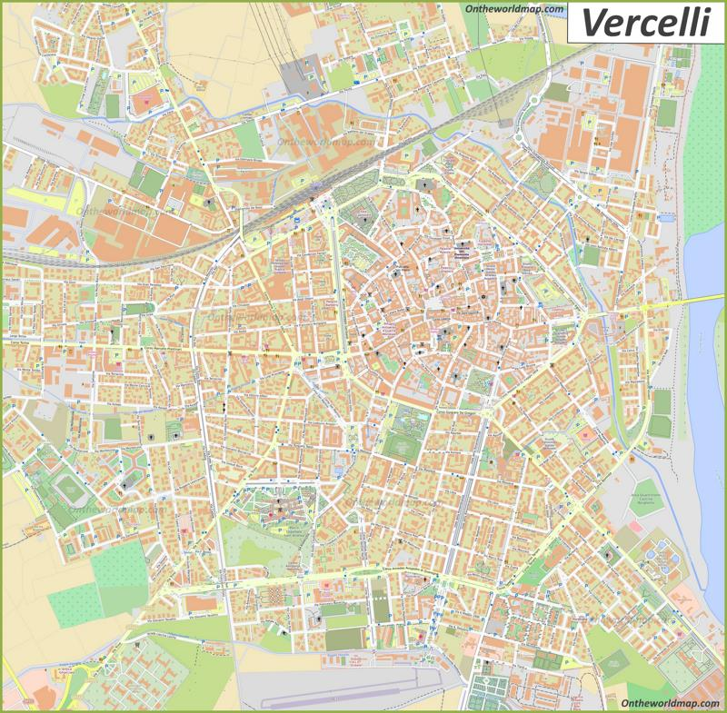 Map of Vercelli