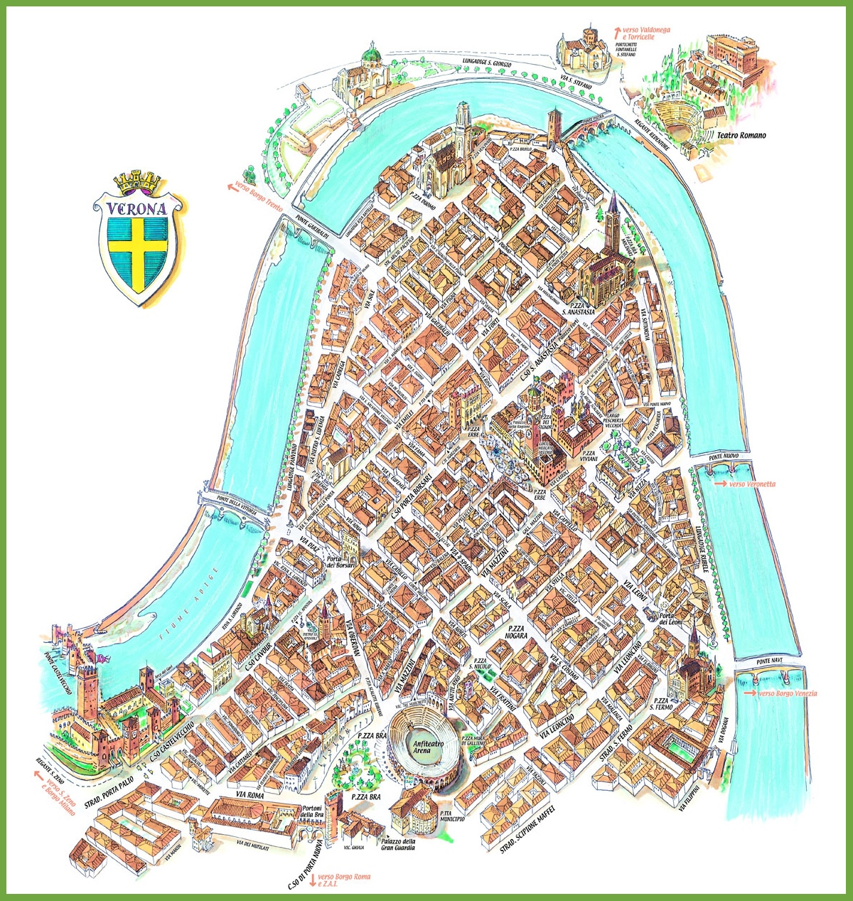 verona tourism map - photo#16