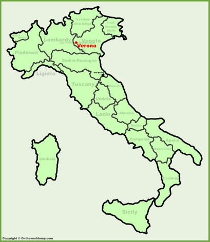 Verona Location Map