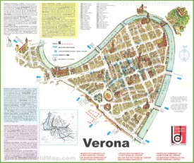 Verona sightseeing map