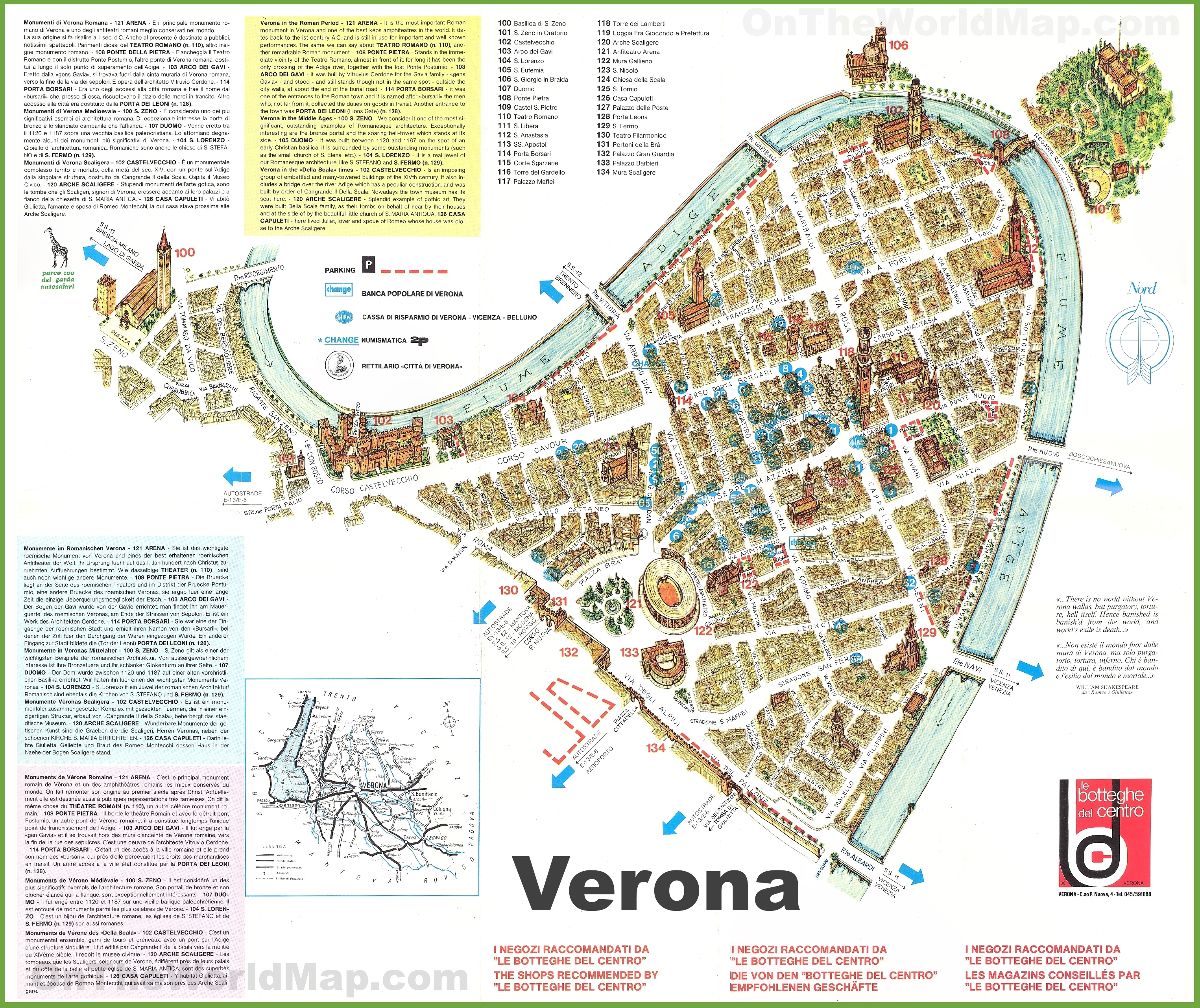 verona tourism map - photo#8