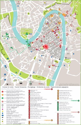 Verona tourist attractions map
