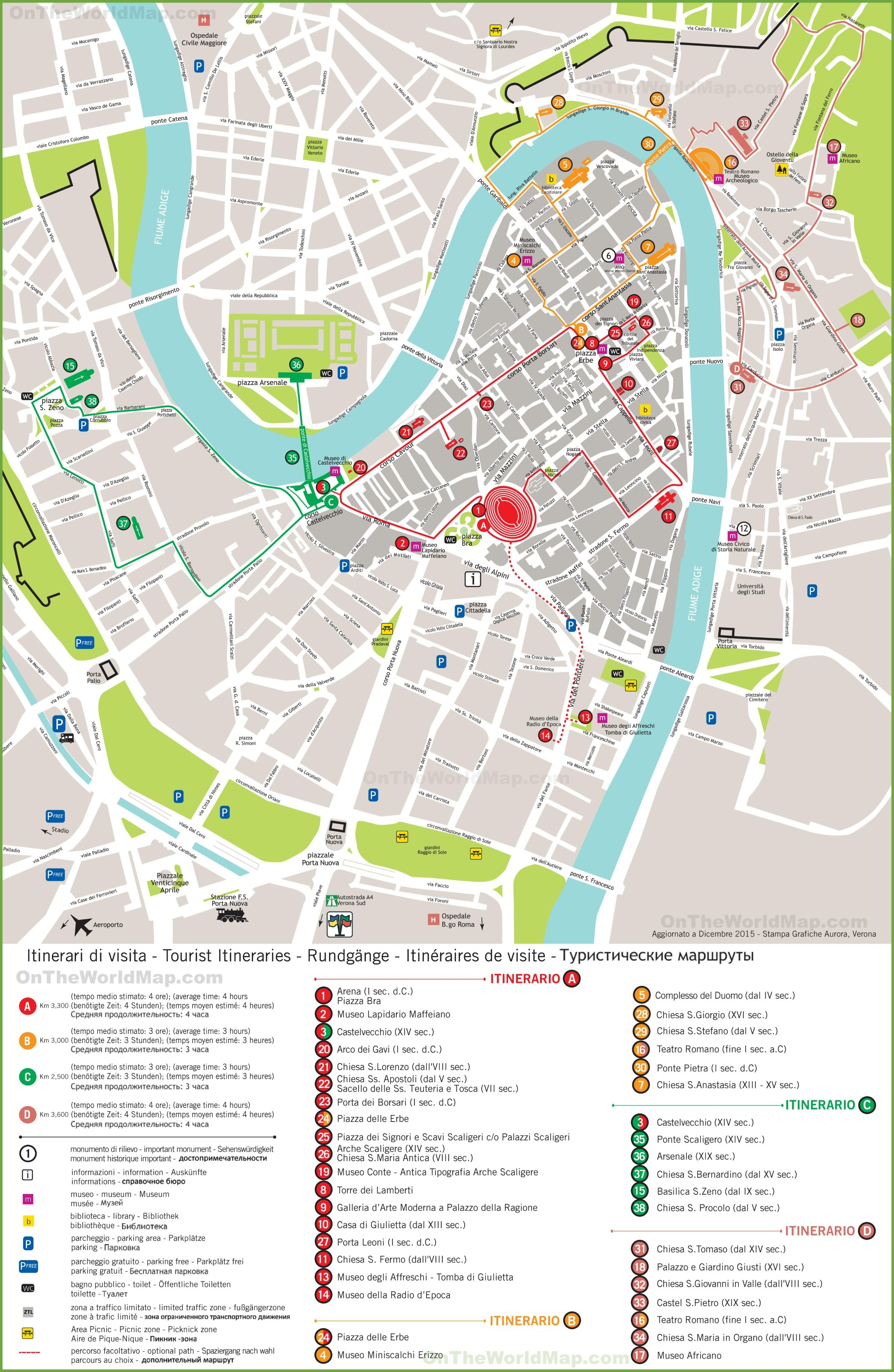 verona tourism map - photo#4