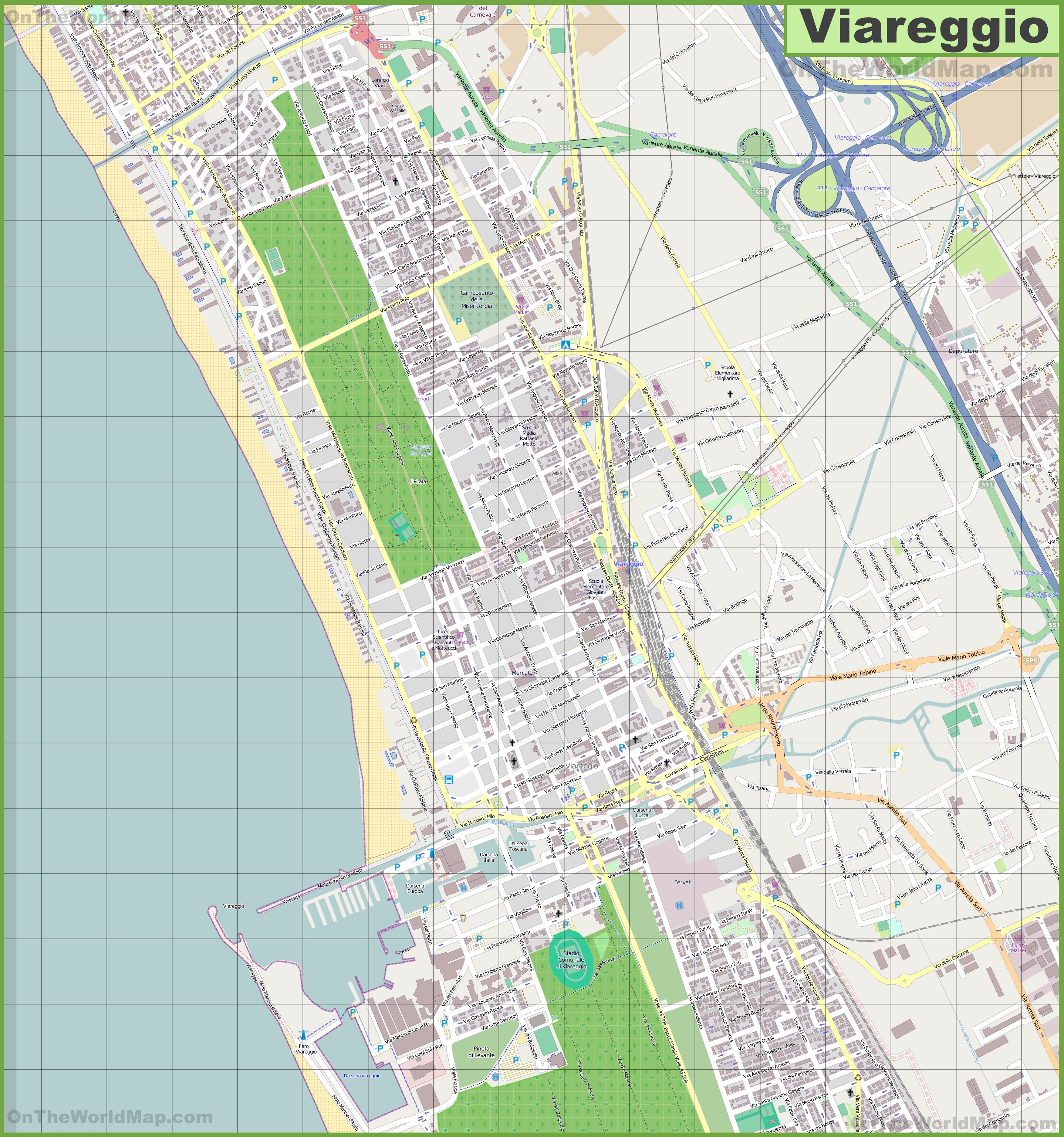 Viareggio Maps Italy Maps of Viareggio