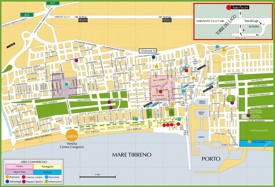 Tourist map of Viareggio city centre