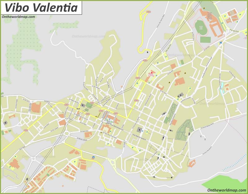 Map of Vibo Valentia
